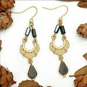 Desert Hematite Dangle Earrings